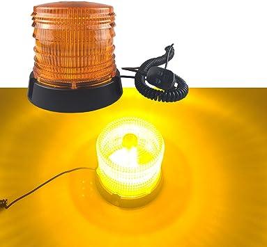 12V luz de aviso de emergencia Faro Giratorio Auto Coche Señal de advertencia