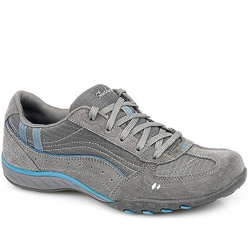 skechers BREATHE-EASY - JUST RELAX - Zapatillas de deporte para mujer, color gris, talla 36