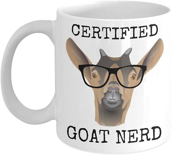 Coffee Mug Crazy Goat Lady Novelty Coffee Mug for Mom Funny Coffee Tea Cup Birth