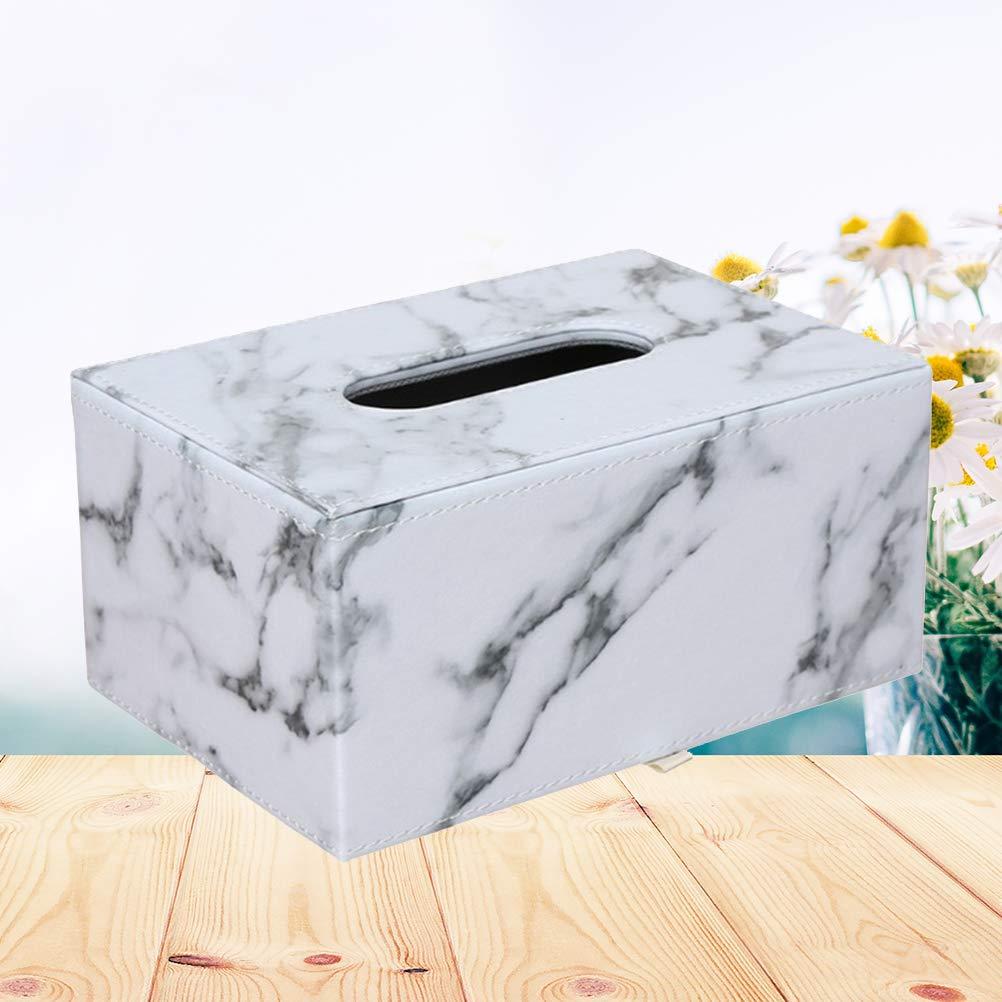 f/ür Zuhause und Hotel Leder Vosarea Kosmetiktuchbox quadratisch marmoriert