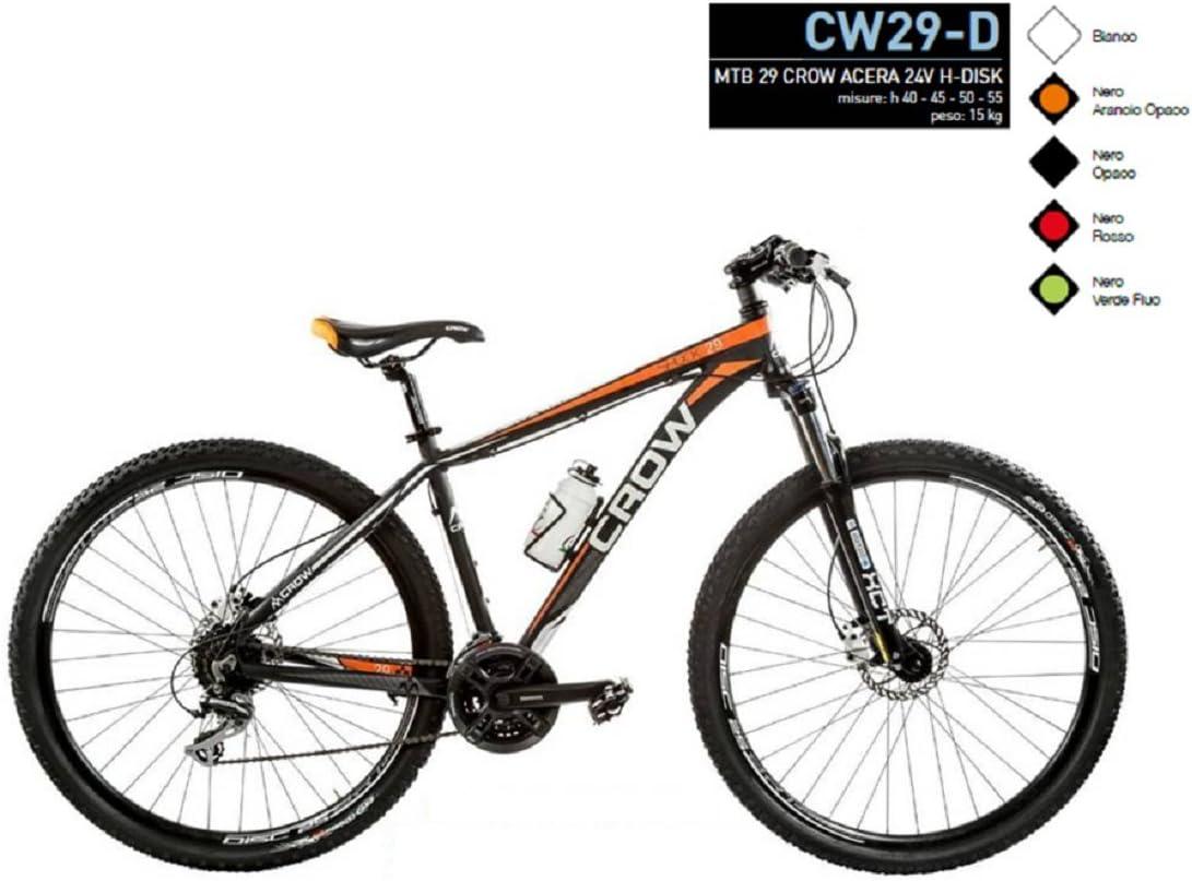 Bicicleta 29 Crow aluminio Shimano Acera 24 V modelo cw29-d (negro ...