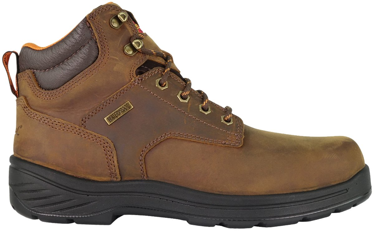 Thorogood 804-3165 Men's Thoro-Flex 6'' Waterproof Composite Safety Toe Sport Boot, Trail Crazyhorse - 7.5 2E US by Thorogood (Image #1)