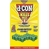 d-CON Refillable Corner Fit Mouse Poison Bait Station, 1 Trap + 4 Bait Refills