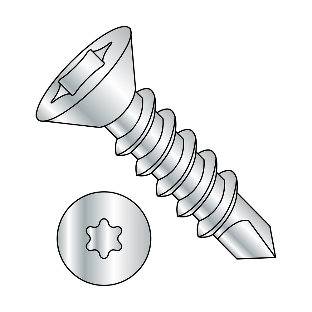 2 Length Pack of 25 Zinc Plated Finish #3 Drill Point Pack of 25 82 Degree Flat Head Star Drive 1//4-14 Thread Size 2 Length 1//4-14 Thread Size Small Parts 1432KTF Steel Self-Drilling Screw