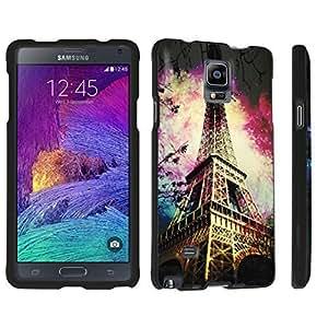 DuroCase ? Samsung Galaxy Note 4 Hard Case Black - (Eiffel Tower Paris Space)