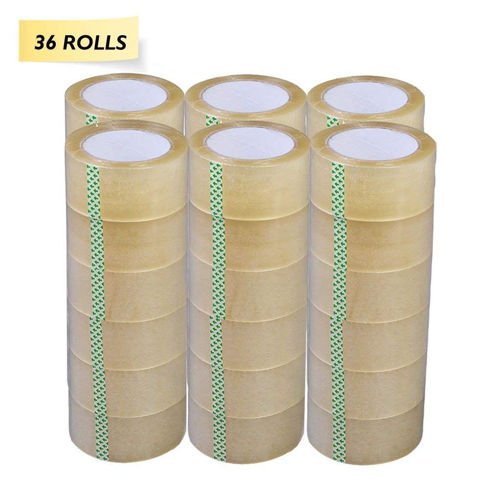 Yens 36 Rolls Clear Packaging, Packing, Sealing Tape - 2 Inches Wide X 330 Feet 110Yard by Yens