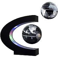 Jiuhuazi Magnetische Schwebe schwimmende Globus Weltkarte, C Form Floating Globe mit LED-Leuchten, Bildung Lehre Demo Home Office schreibtischdekoration