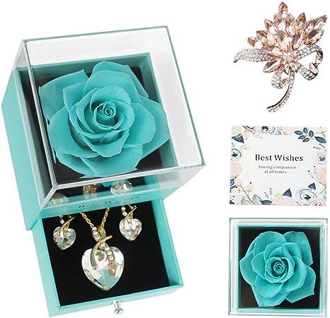 Turquoise earrings turquoise  flower  earrings Hand-woven flower earrings gift for women girlfriend  couple gifts Christmas gifts .