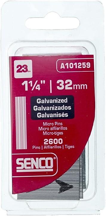 Senco A100759 23-Gauge x 3//4-Inch Electro Galvanized Headless Micropins