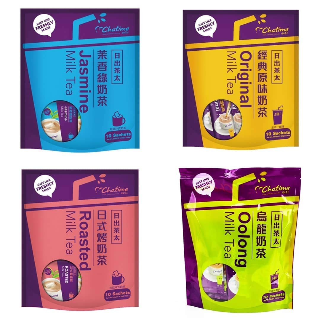 Cha Time Milk Tea Combo Pack of 4 (10x20g)(Original,Oolong,Jasmine, Roasted) by Cha Time