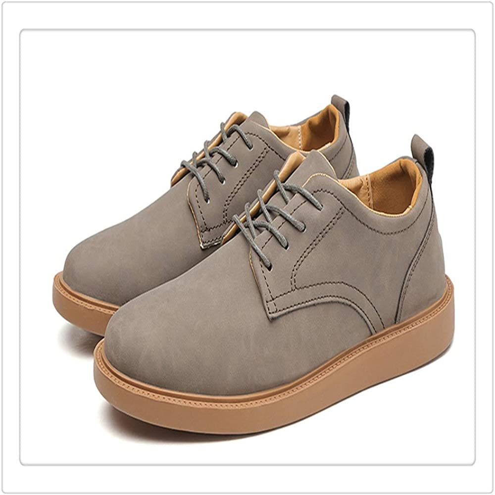 Mens Shoes Casual Oxford Shoes for Men Business Work Lace up Style Microfiber Leather Flat Antislip Round Toes Fashion