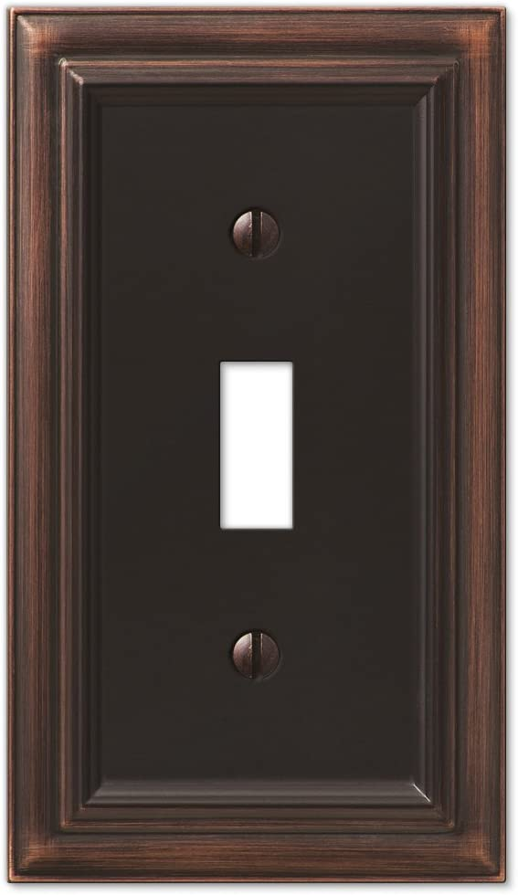AMERELLE 94TVB Continental Single Toggle Cast Metal Wallplate in Aged Bronze
