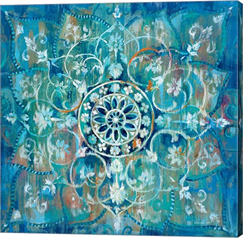 Mandala in Blue I by Danhui Nai Canvas Art Wall Picture, Gallery Wrap,
