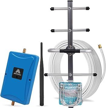 ANYCALL Amplificador Señal Movil Repetidor 4G LTE Kit 800MHz Band 20 Amplificador Cobertura Movil de telefono movil para Mejor 4G Datos de móvil con 2 ...