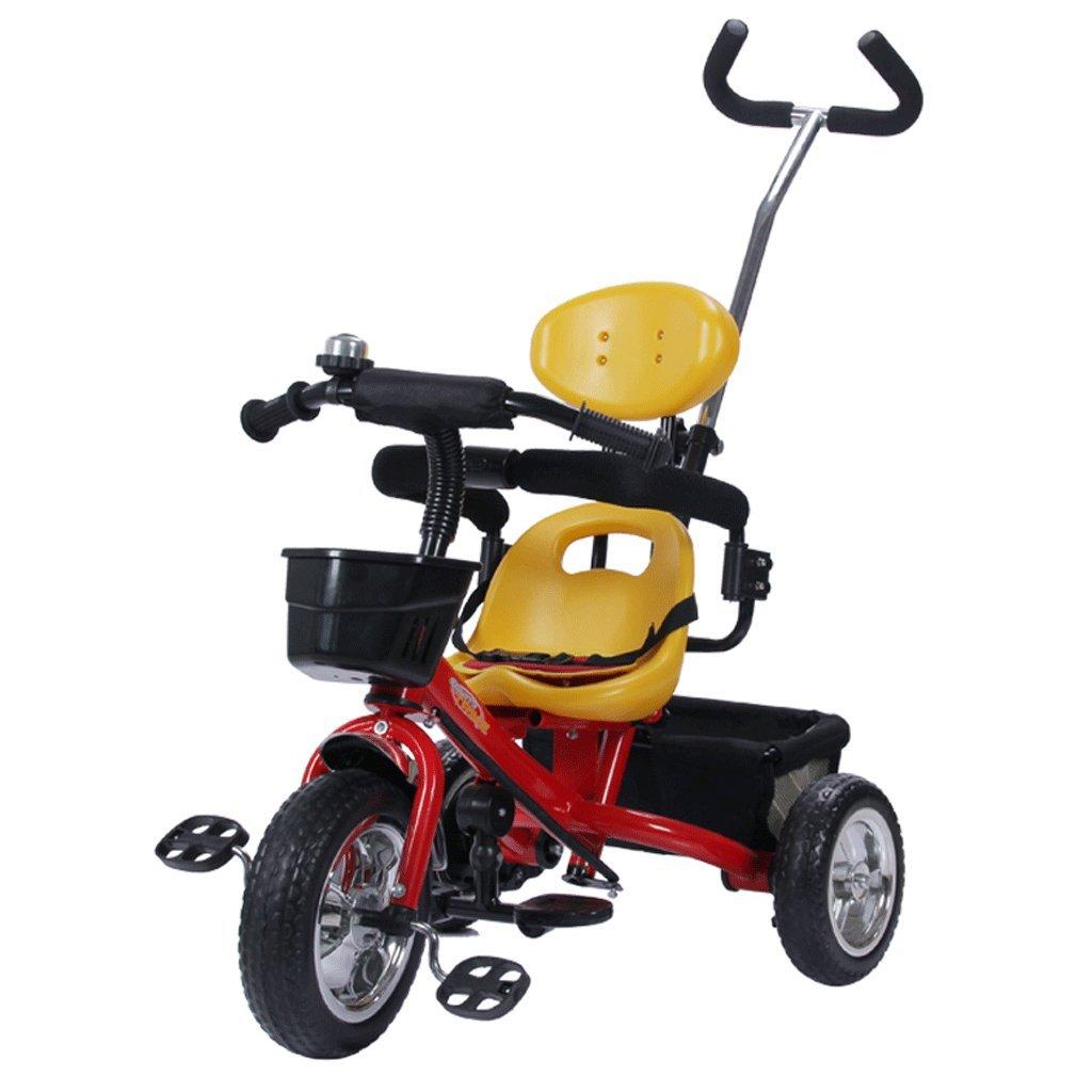 子供の三輪車の自転車の赤ちゃんカート1-5歳の子供の自転車幼児の車、青、赤、85 * 45 * 100センチメートル ( Color : Red ) B07CG3HMVT