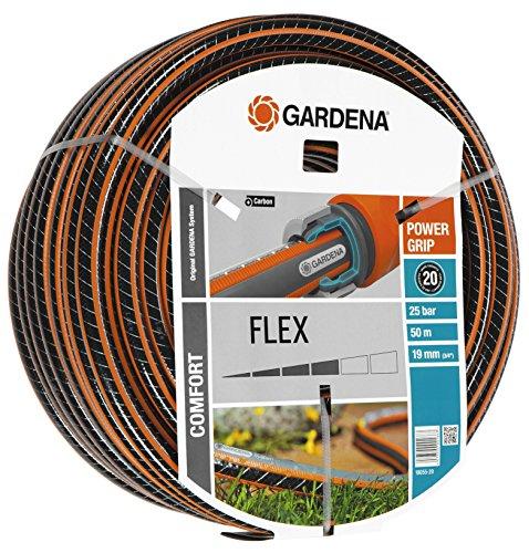 Gardena Comfort Flex Schlauch 9 x 9, 19 mm, 3/4 Zoll, 50 m ohne Systemteile, 18055-20