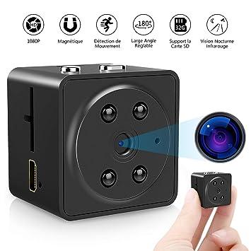 VicTsing Mini cámara espía, cámara Oculta Full HD 1080p Portable Micro Integrado, visión Nocturna