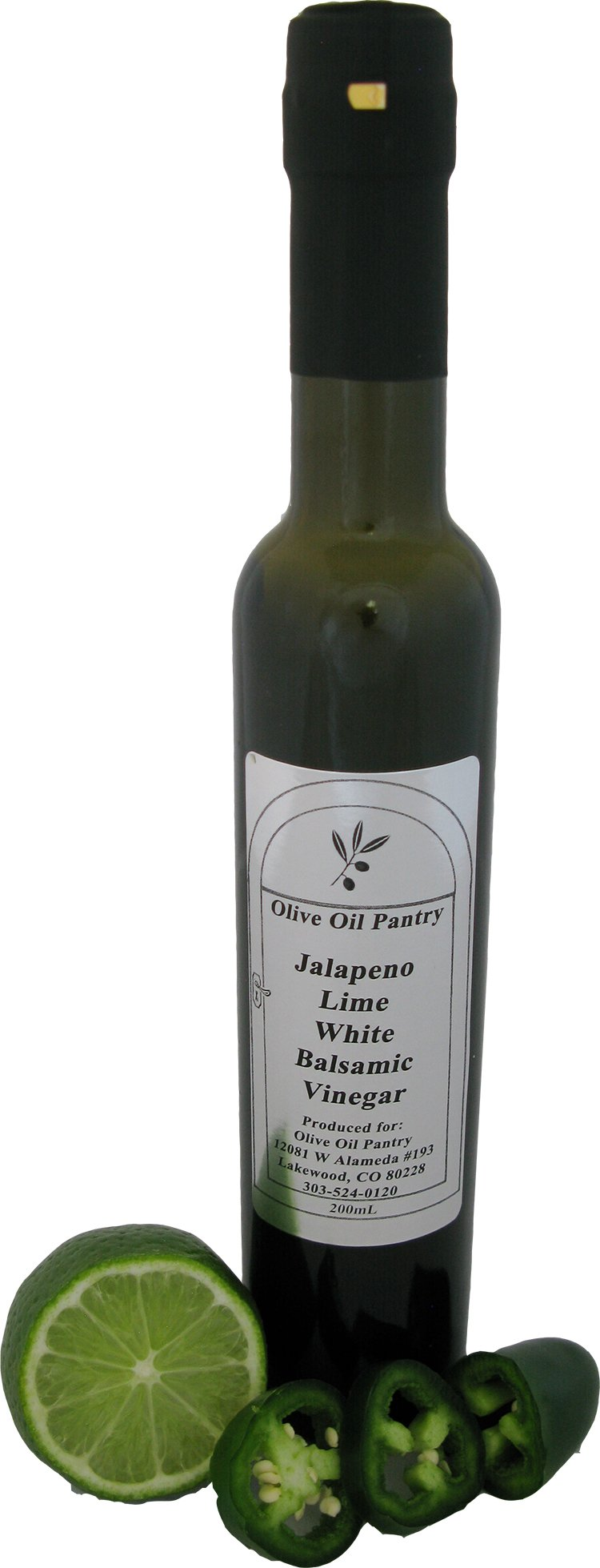 Olive Oil Pantry Jalapeno Lime Flavor Infused White Balsamic Vineger by Olive Oil Pantry