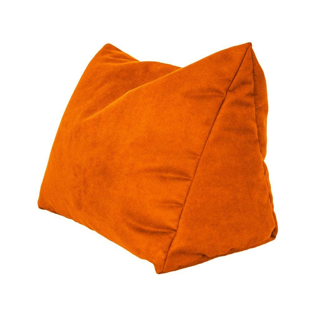 Coussin d/écoratif pour lit et canap/é avec Flocons de Mousse Kissen /& more Coussin de Lecture et Dossier en Microfibre pour Un Confort Optimal Microfibre Coussin de Nuque Orange 46x21x32