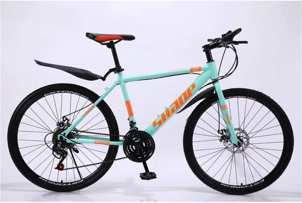 DOMDIL Mountain Bike Pieghevole per Uomini e Donne Adulti 26 Pollici con Ruota a Raggi MTB con 21-Stage Shift Giallo Bicicletta Sportiva da Montagna