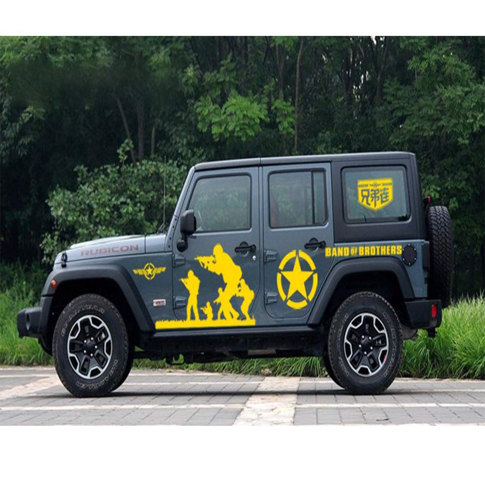 Fochutech jeep decals truck stickers suv side decals war veteran stickeru s army decal car quote decals band of brothers vinyl decals for cars side