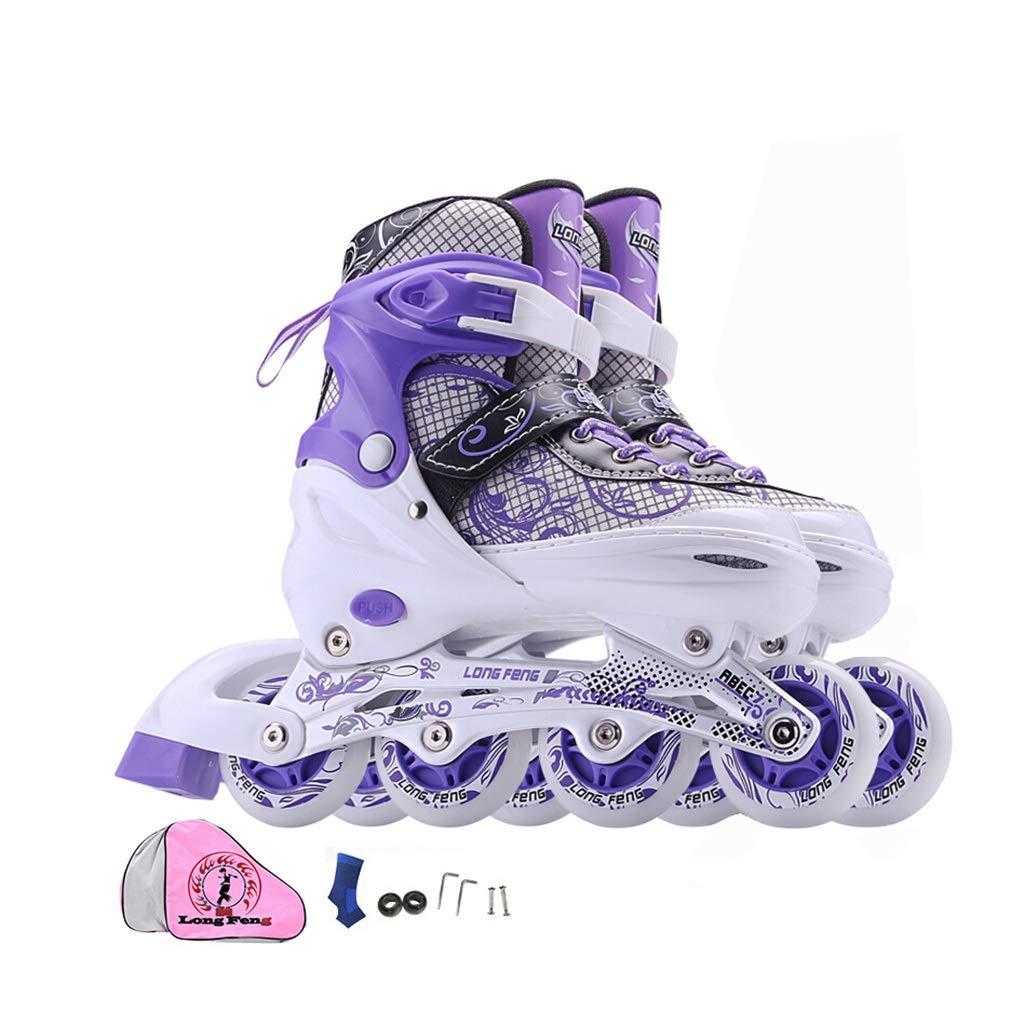 子供のためのローラースケート、フルフラッシュインラインスケート初心者は調整することができます (Size : L-EU-(39-42))  L-EU-(39-42)