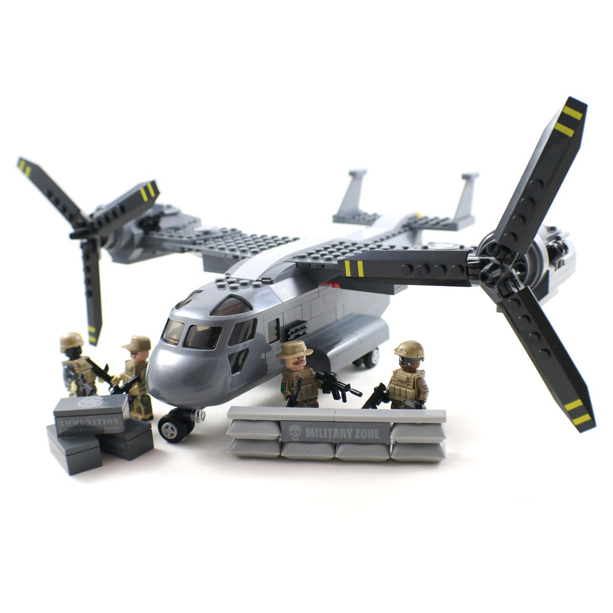 Buy V 22 Osprey Tiltrotor Military Aircraft And Army Soldiers Engine Diagram Building Block Toy By Chenghai Plastic Toys Online At Low Prices In India
