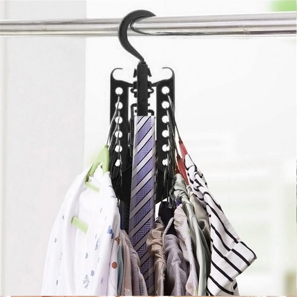 FlowersSea Percha m/ágico plegablearmario completo multifunci/ón para la ropa camisas Escudo su/éteres Organizador de vestir estante de la suspensi/ón de secado 1PC