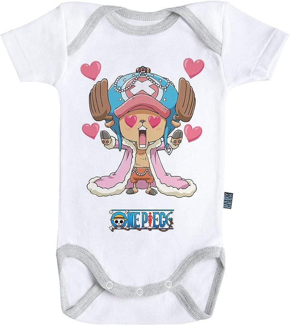 One Piece /™ Body B/éb/é Manches Courtes Parent Licence Officielle Baby Geek Chopper