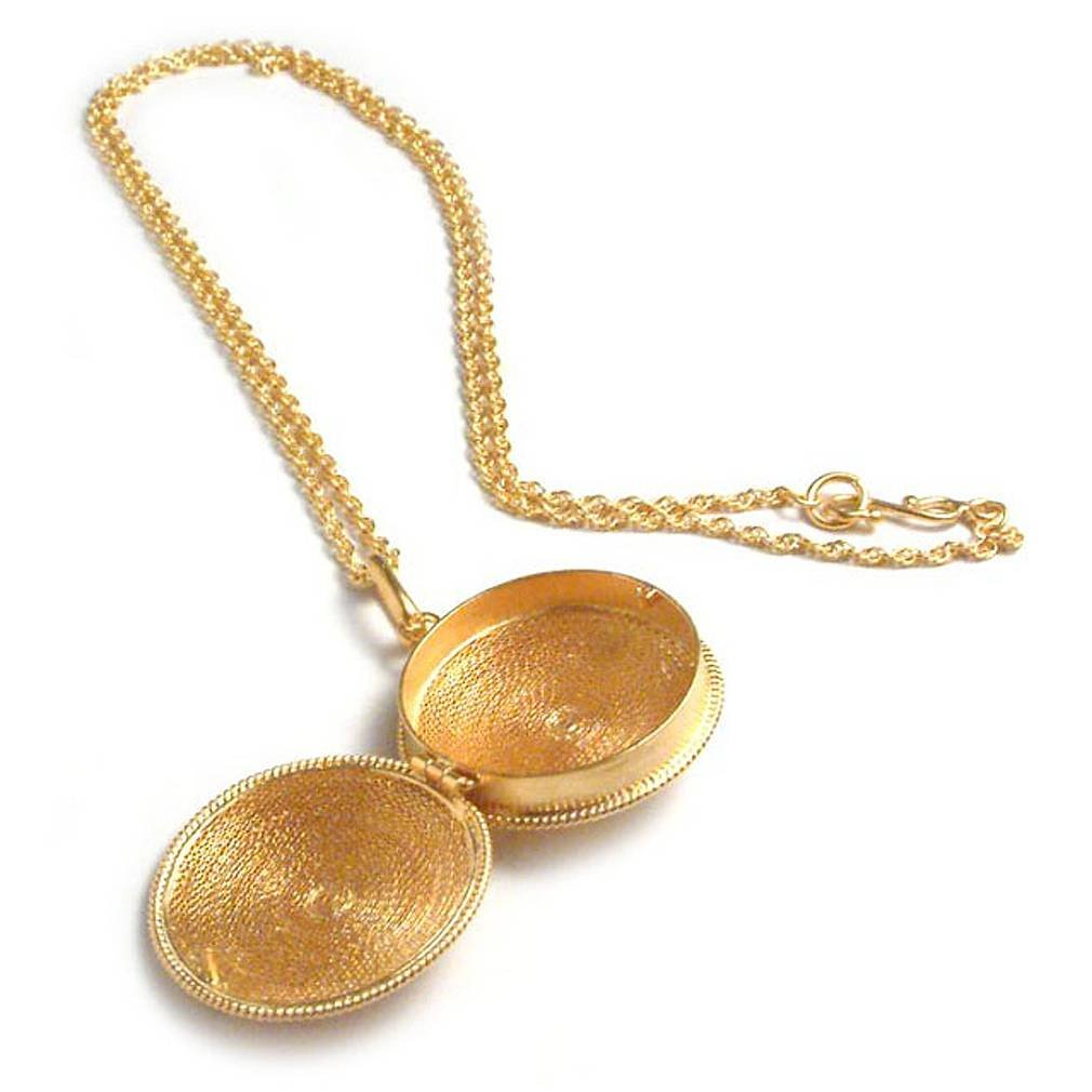 NOVICA 21k Yellow Gold Plated .925 Sterling Silver Locket Necklace, 19.25'', 'Precious Secret'