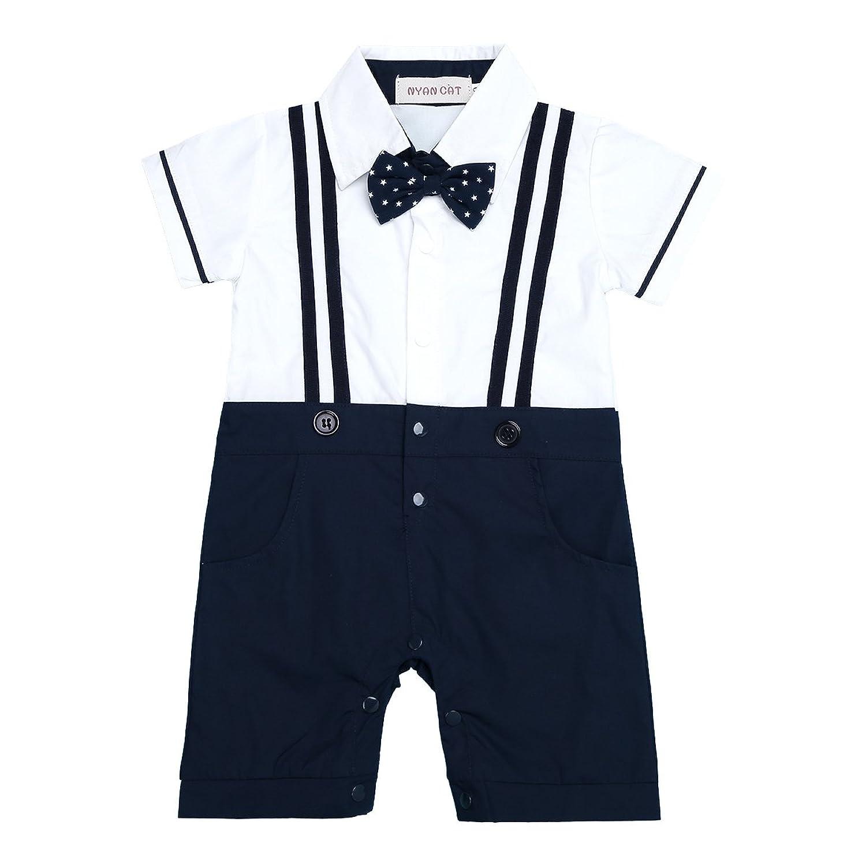 6d6dc7043 De alta calidad iEFiEL Conjunto Pelele Pantalones de Tirante a Cuadros Mono Algodón  Traje Bautizo Fiesta