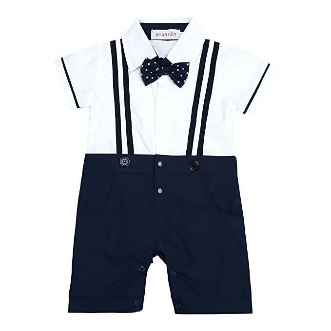 iEFiEL Conjunto Pelele Pantalones de Tirante a Cuadros Mono Algodón Traje  Bautizo Fiesta Boda para Bebé Niño (6-24 Meses) Nacién Nacido  Amazon.es   Ropa y ... 0db2b1ac2fd88