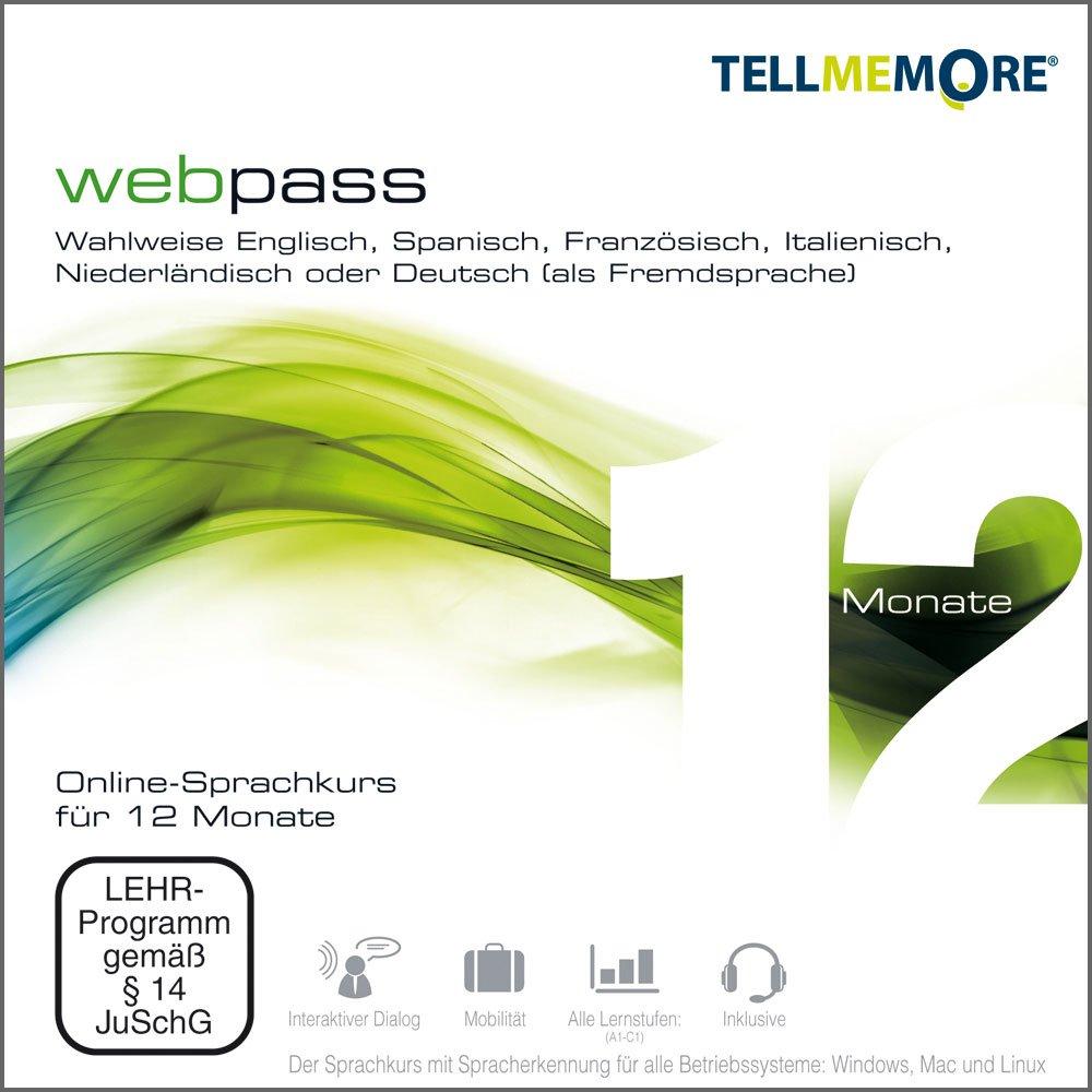 Tell me More webpass Online-Sprachkurs - 12 Monate - 1 Karte mit Accesscode und Headset