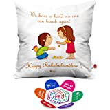 Indigifts Bond That Never Break Quote Printed White Square Cushion Cover 12X12 With Filler - White