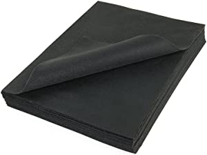 Craft Felt Sheets 9 Inch X 12 Inch - 25 Pcs Pack, Black