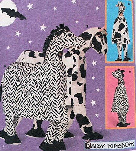 Costume Pattern: Horse, Cow, Zebra (Daisy Kingdom) (Simplicity Costumes 9199) -