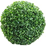 """Juanshop Small Ball Tree Potted Artificial Plastic Grass Plants Table Decor Gift For Kids (18 cm / 7.09"""")"""