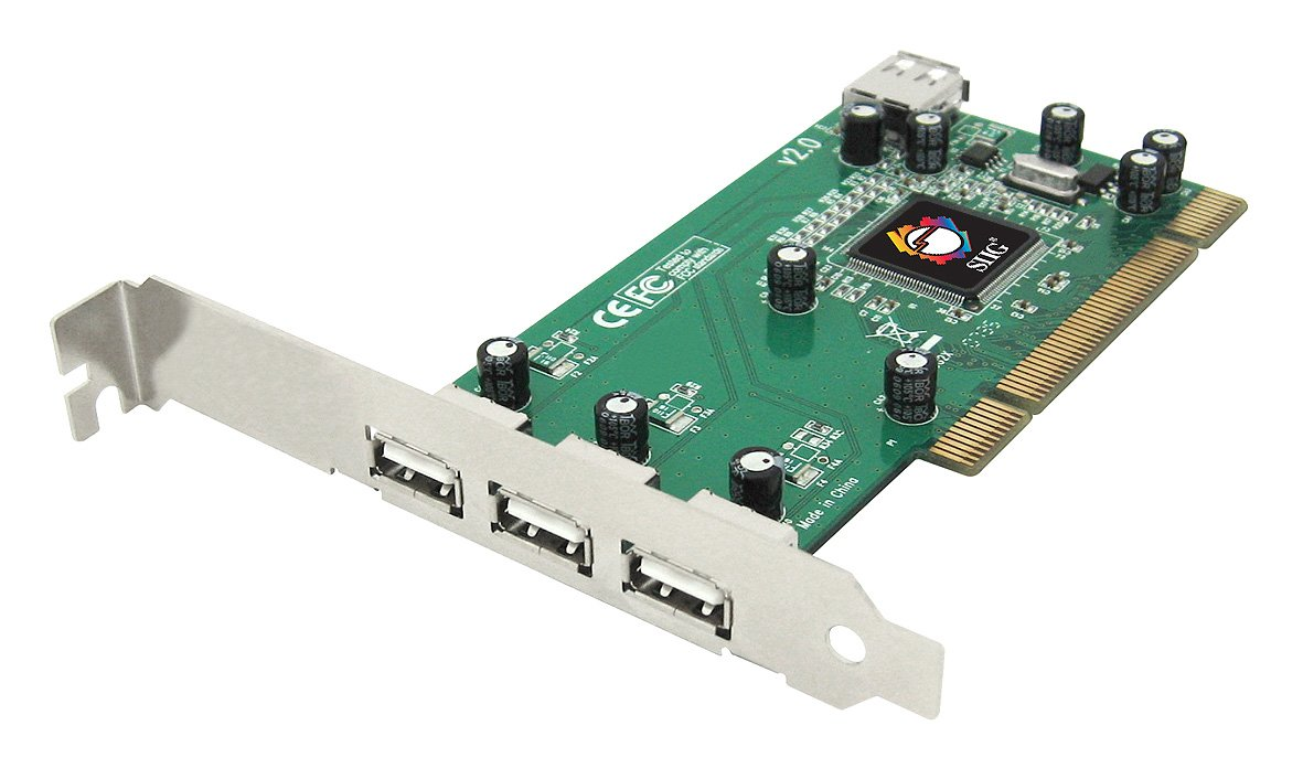 SIIG Dual Profile Hi-Speed USB 4-Port PCI Adapter (JU-000042