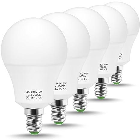JandCase - Bombilla LED equivalente a 60 W, bombillas LED de luz blanca cálida 3000