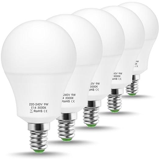 JandCase - Bombilla LED equivalente a 60 W, bombillas LED de 6000 K, bombilla A60 de 9 ...