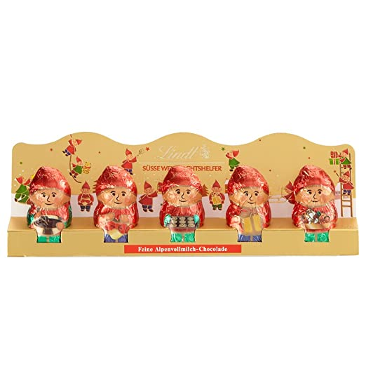 Lindt Holiday Milk Chocolate Mini ELF Figures