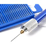 TG888 Mini Micro Twist Drill Bits HSS Set Of 20 Pieces Index 61-80 w/Aluminum Hand Drill Hobby