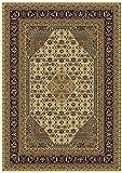 Silk Persian Ivory Rugs Traditional Area Rugs 5×8 Carpet Floor Area Rugs Cream Ivory Tabriz Design 5×7 Rugs (Medium 5'x8′) For Sale