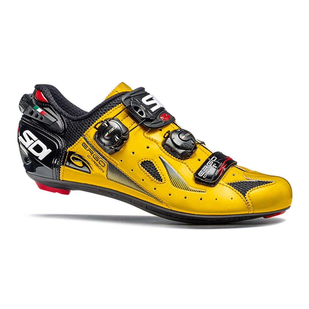 Sidi Ergo 4 Carbon Cycling Shoe - Men's B019OMCOYY 42 M EU Yellow/Black