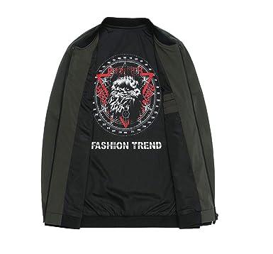 KT&Jacket Cazadora para Hombre Bombardero Polo Chaqueta Abrigo Casual Outwear Chaquetas para Hombre Abrigos: Amazon.es: Ropa y accesorios