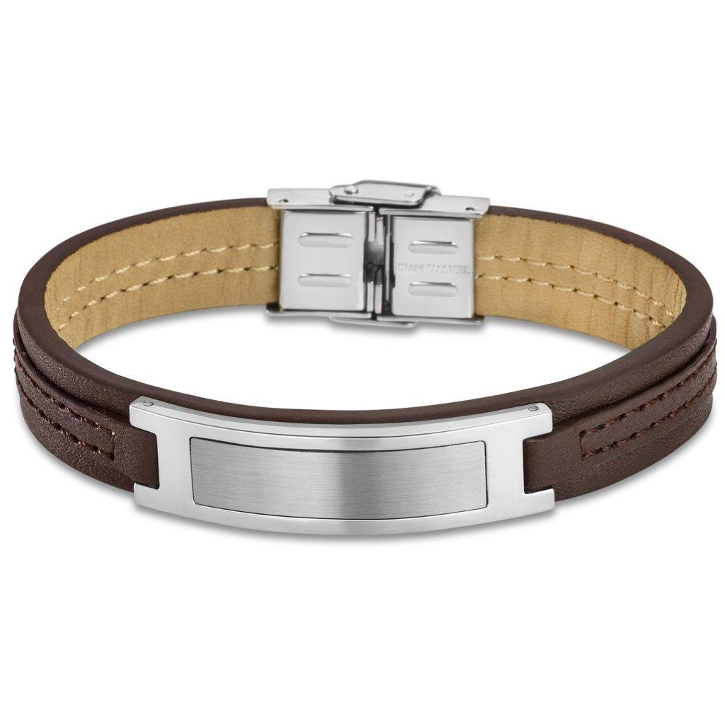 b255a7a81396 Surfista pulsera brazalete cuero trenzado cuatro filas marrón unisex  ajustable 16cm a 21cm LeatherWear LB707 · LS1888 2 1 LOTUS 242582-00