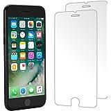 Verre Trempé iPhone 8 Plus 7 Plus,(Lot de 2) Foho Film Protection en Verre trempé écran Protecteur Vitre-ANTI RAYURES-SANS BULLES D'AIR-Ultra Résistant Dureté 9H Glass pour iPhone 8 Plus 7 Plus