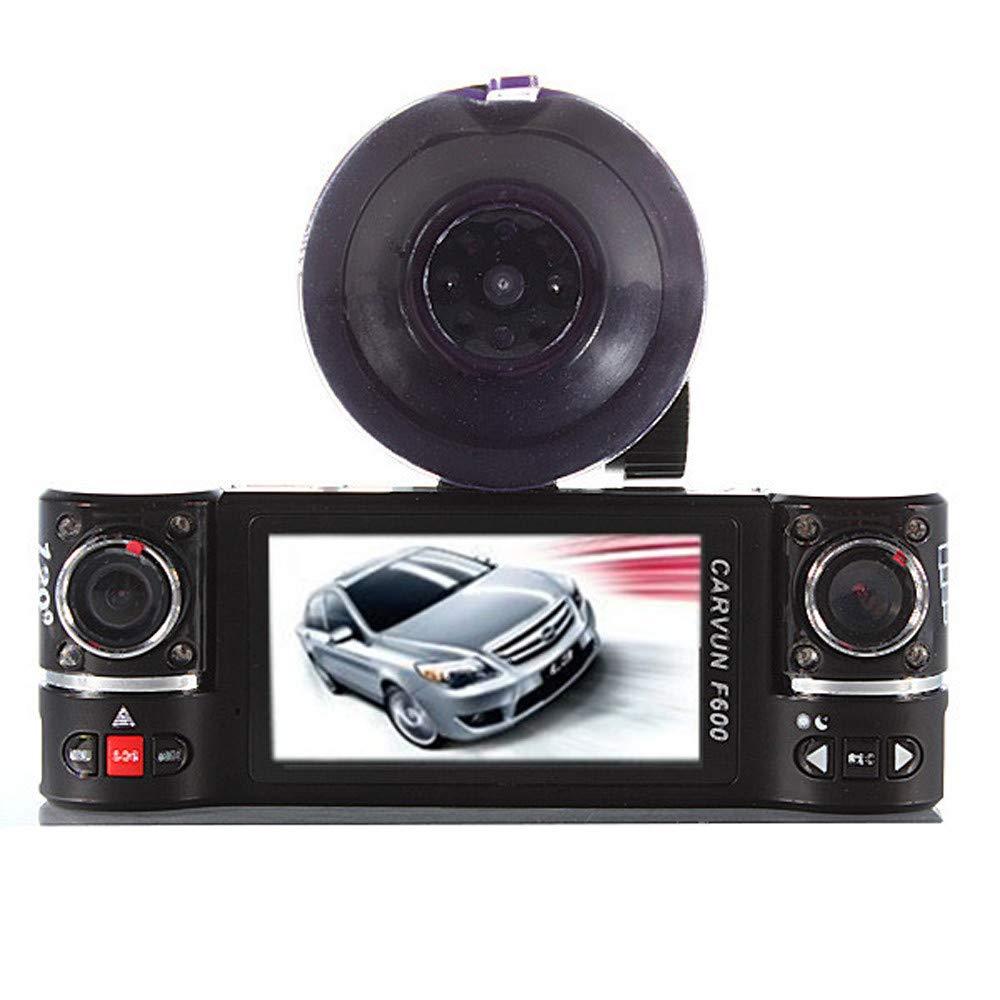 Chranto Dual Lens Car Camera Vehicle DVR Dash Cam Two Lens Video Recorder F600