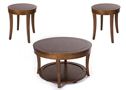 Coffee Table 3 Piece Sets.Amazon Com Classic Round 3 Piece Coffee Table Set Made Of Solid