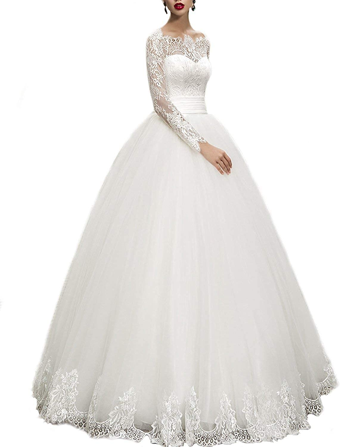 Weddingdazzle Wedding Dresses Ball Gown Sweetheart Lace Up Wedding